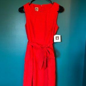 NWT - Anne Klein red orange dress sz 2